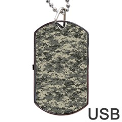 Us Army Digital Camouflage Pattern Dog Tag USB Flash (One Side)