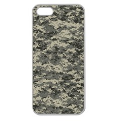 Us Army Digital Camouflage Pattern Apple Seamless iPhone 5 Case (Clear)