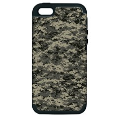 Us Army Digital Camouflage Pattern Apple Iphone 5 Hardshell Case (pc+silicone)