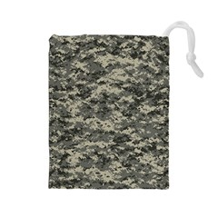 Us Army Digital Camouflage Pattern Drawstring Pouches (Large)