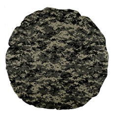 Us Army Digital Camouflage Pattern Large 18  Premium Flano Round Cushions