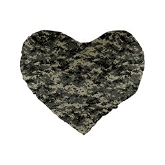 Us Army Digital Camouflage Pattern Standard 16  Premium Flano Heart Shape Cushions