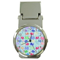Cute elephants  Money Clip Watches