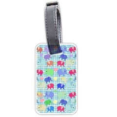 Cute elephants  Luggage Tags (One Side)