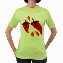 Chili Women s Green T Shirt