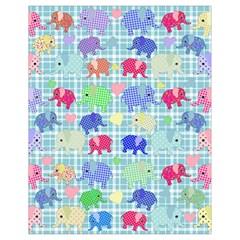 Cute elephants  Drawstring Bag (Small)
