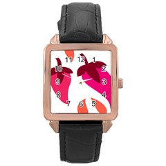 Chili Rose Gold Leather Watch