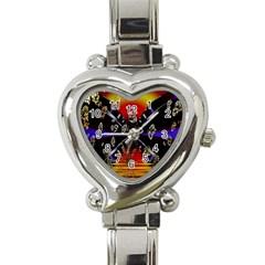 Diamond Manufacture Heart Italian Charm Watch