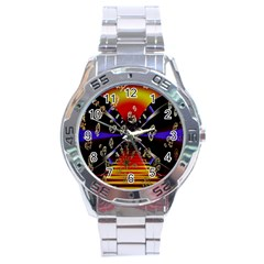 Diamond Manufacture Stainless Steel Analogue Watch