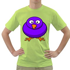 Cartoon Bird Purple Green T Shirt