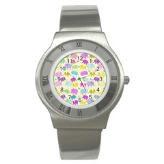 Cute elephants  Stainless Steel Watch