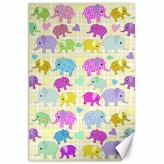 Cute elephants  Canvas 24  x 36