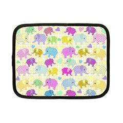Cute elephants  Netbook Case (Small)