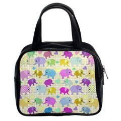 Cute elephants  Classic Handbags (2 Sides)