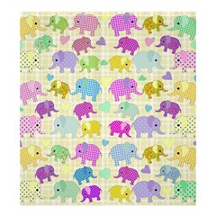Cute elephants  Shower Curtain 66  x 72  (Large)