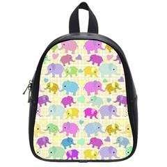 Cute elephants  School Bags (Small)