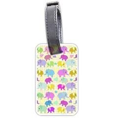 Cute elephants  Luggage Tags (One Side)
