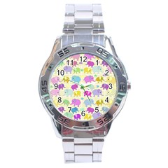 Cute elephants  Stainless Steel Analogue Watch