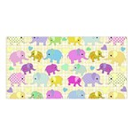 Cute elephants  Satin Shawl Front