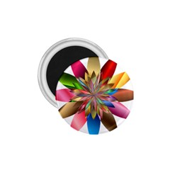 Chromatic Flower Gold Rainbow 1.75  Magnets