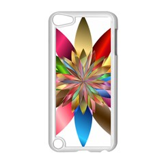 Chromatic Flower Gold Rainbow Apple Ipod Touch 5 Case (white)