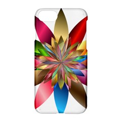 Chromatic Flower Gold Rainbow Apple Iphone 7 Hardshell Case