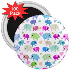 Cute elephants  3  Magnets (100 pack)