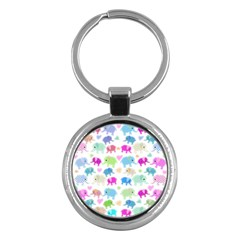 Cute elephants  Key Chains (Round)