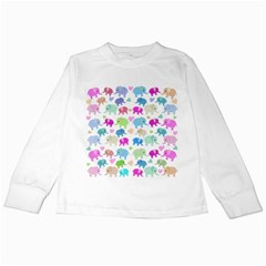 Cute elephants  Kids Long Sleeve T-Shirts