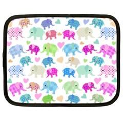 Cute elephants  Netbook Case (XXL)