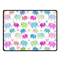 Cute elephants  Double Sided Fleece Blanket (Small)