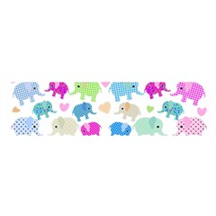 Cute elephants  Satin Scarf (Oblong)
