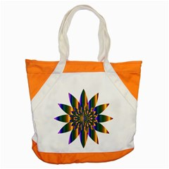 Chromatic Flower Gold Rainbow Star Light Accent Tote Bag