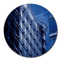 Building Architectural Background Round Mousepads