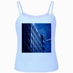 Building Architectural Background Baby Blue Spaghetti Tank