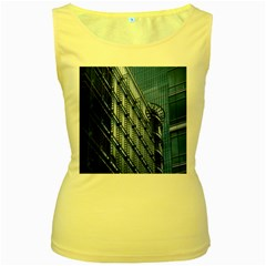 Building Architectural Background Women s Yellow Tank Top