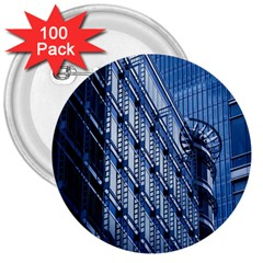 Building Architectural Background 3  Buttons (100 Pack)