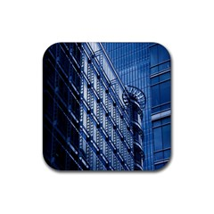 Building Architectural Background Rubber Square Coaster (4 pack)