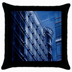 Building Architectural Background Throw Pillow Case (Black)