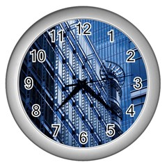 Building Architectural Background Wall Clocks (Silver)