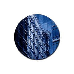 Building Architectural Background Rubber Round Coaster (4 Pack)