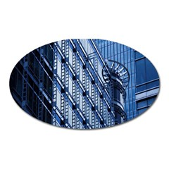 Building Architectural Background Oval Magnet