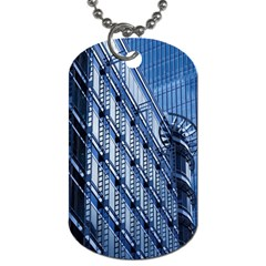 Building Architectural Background Dog Tag (one Side)