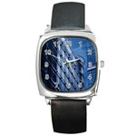 Building Architectural Background Square Metal Watch Front
