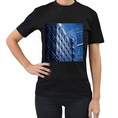 Building Architectural Background Women s T-Shirt (Black) (Two Sided)