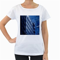 Building Architectural Background Women s Loose-Fit T-Shirt (White)