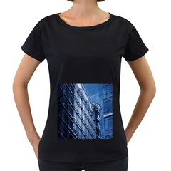 Building Architectural Background Women s Loose-Fit T-Shirt (Black)