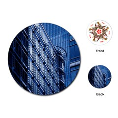 Building Architectural Background Playing Cards (round)