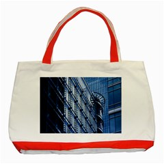 Building Architectural Background Classic Tote Bag (Red)