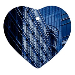 Building Architectural Background Heart Ornament (Two Sides)